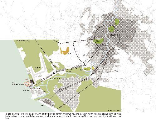 Расположение аэропорта на карте города