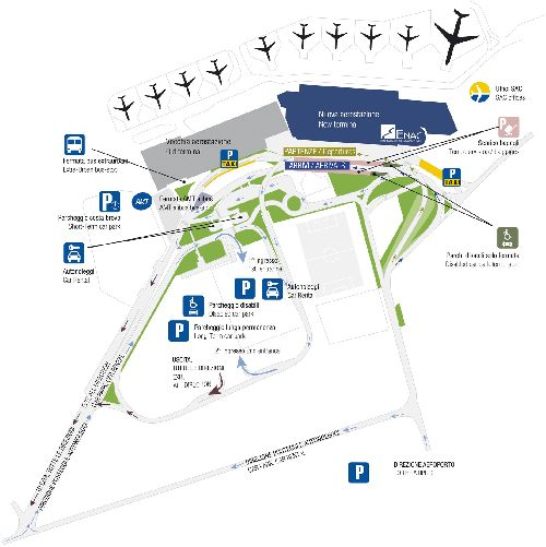 Подробный план аэропорта Катании