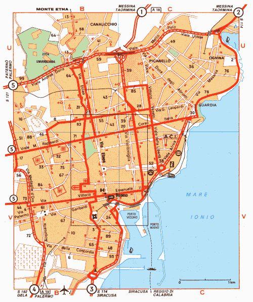 Другой вариант карты Катании