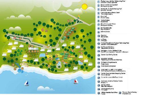 Подробная карта отеля CITTA DEL MARE 3* в Катании