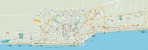 Детальная карта дорожных развязок Римини