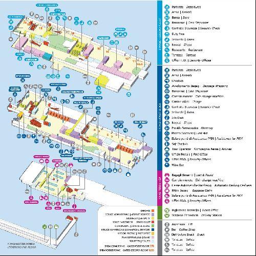 "Подробный план аэропорта ""Falconne Forsalino"" в Палермо"