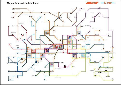 """Схема автобусных маршрутов компании """"Ataf"""""""
