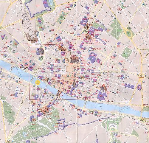 Большая карта Флоренции