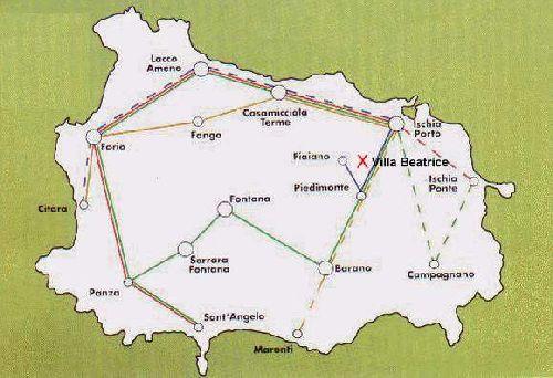 Автобусные маршруты по острову