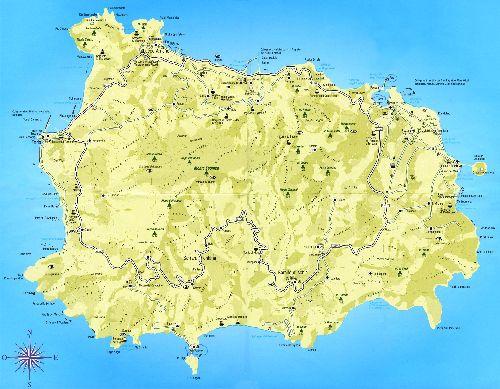 Детальная карта о. Искьи