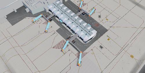 Общая схема аэропорта Кальяри