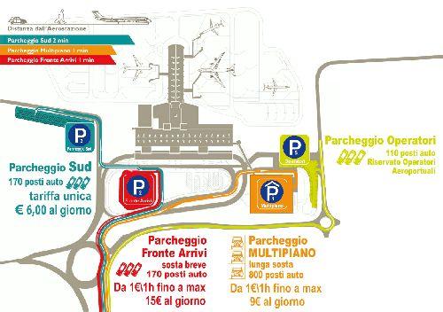 """Схема аэропорта """"Кальяри"""""""