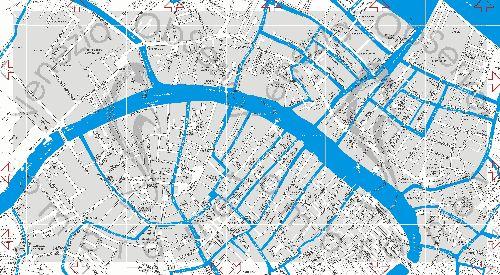 Большая карта всех каналов Венеции