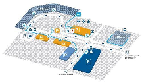 Маршрут передвижения по аэропорту Неаполя для инвалидов