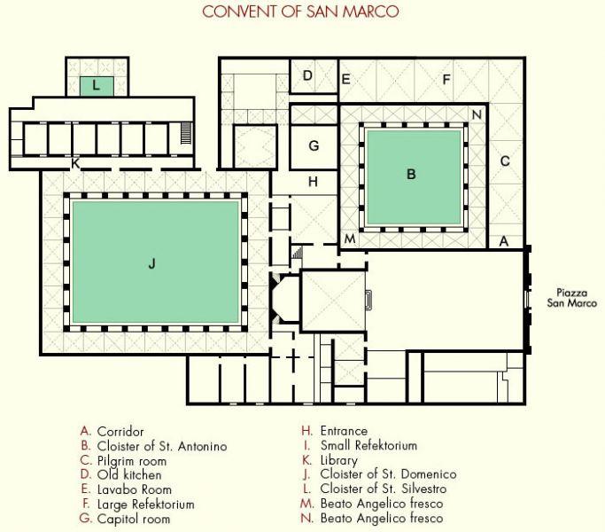 """План церкви """"Basilica di San"""