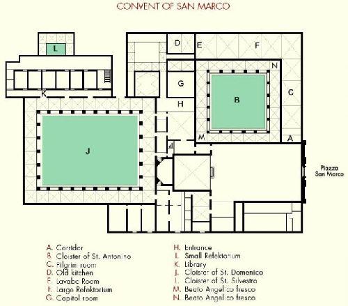 "План церкви ""Basilica di San Marco"""