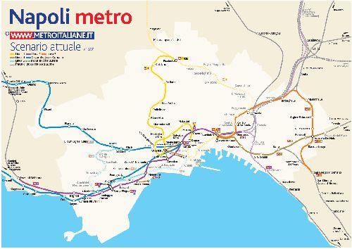 Детальная карта метро Неаполя