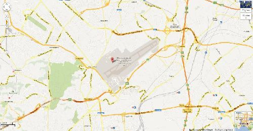 """Расположение аэропорта """"Коподичино"""" на карте города"""