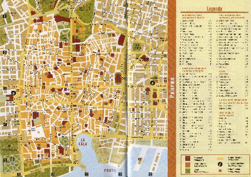 Подробная карта Палермо с обозначением всех достопримечательностей города