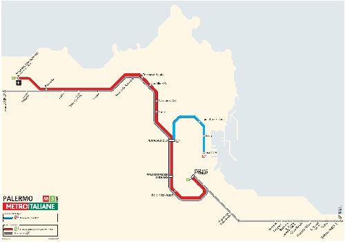 Карта метро Палермо