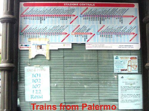 Маршруты поездов из Палермо в Катанию
