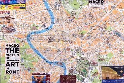 Подробная туристическая карта Рима с указанием основных достопримечательностей