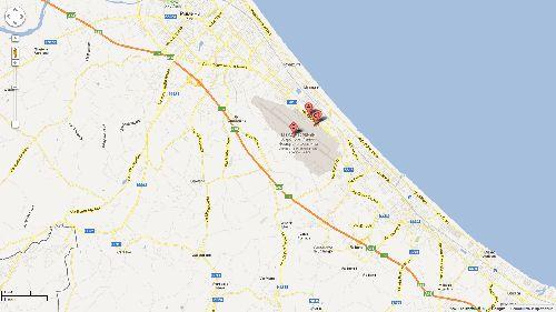 Расположение аэропорта Римини на карте города