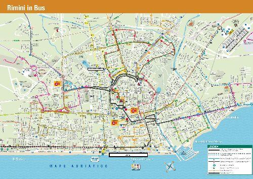 Карта автобусных маршрутов Римини