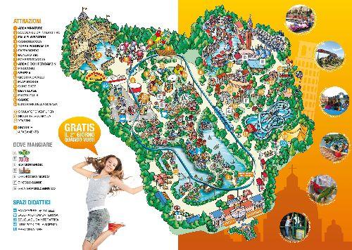 """Карта развлекательного парка """"Италия в миниатюре"""""""