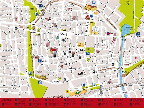 Большая карта достопримечательностей Римини