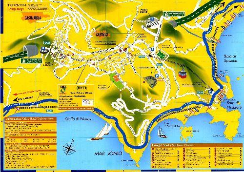 Карта восточного города Таормина