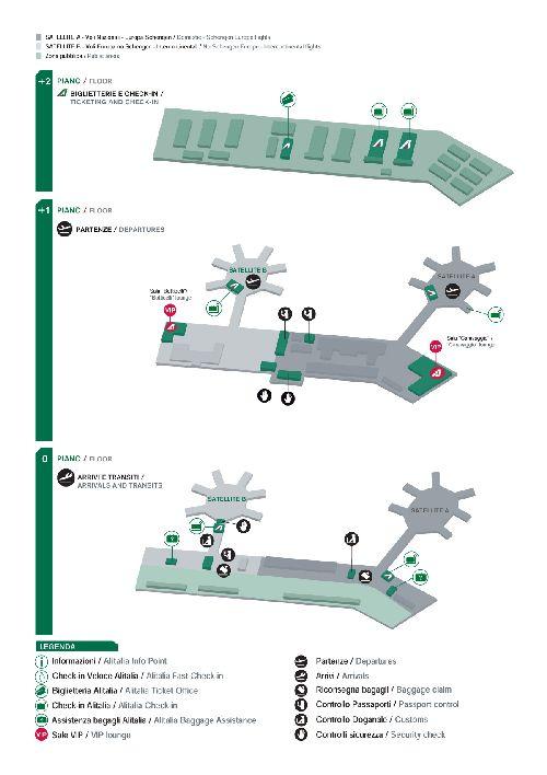 """Карта планировки  """"Aeroporto di Milano-Malpensa"""""""