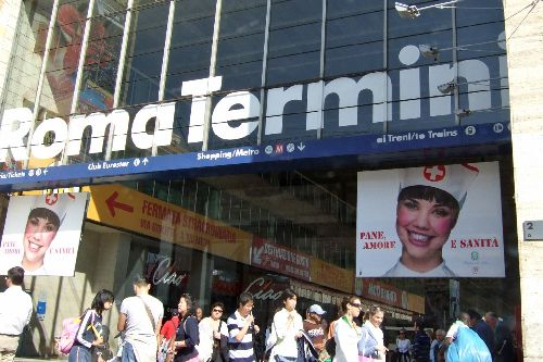 """Вход на вокзал """"Термини"""""""