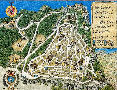 Карта северо-западного города Трапани