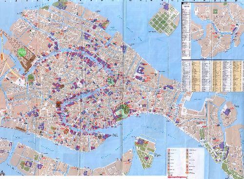 Детальная карта Венеции