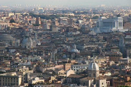 Вид с купола св. Петра, Ватикан