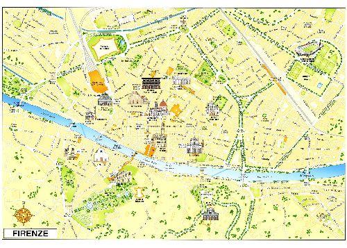 Карта центра Флоренции