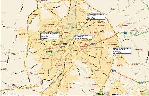 Карта ж/д станций Рима