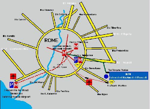 Схематическое расположение римского аэропорта