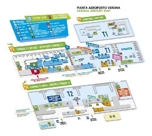 Схема аэропорта вероны